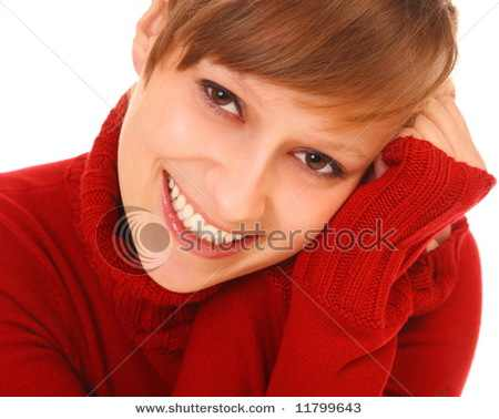 stock-photo-smiling-beautiful-young-woman-in-red-sweater-on-white-background-11799643