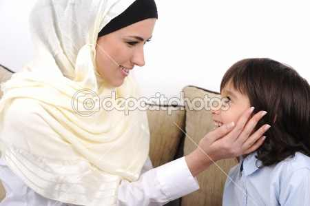 dep_6212821-Muslim-mother-and-son-relaxing-at-the-home