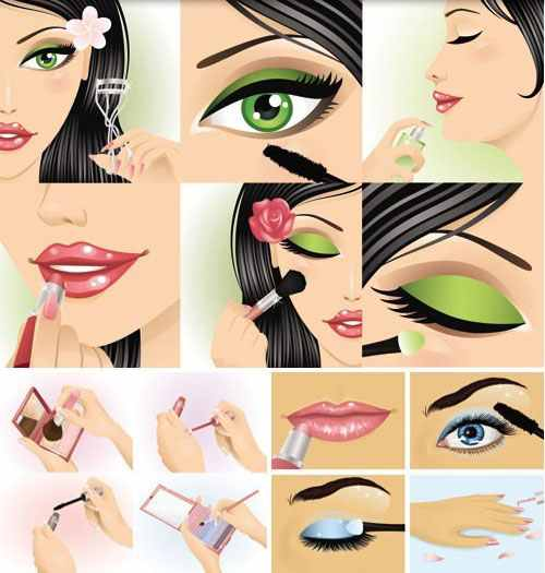 make-up-clip-art-vector