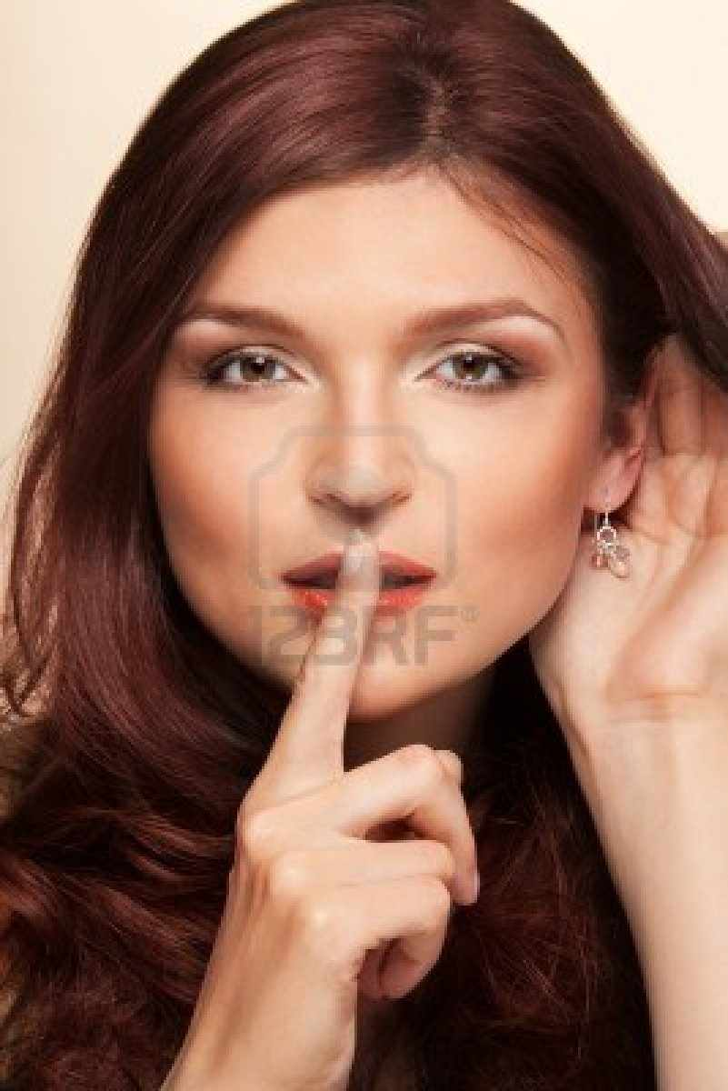 10832709-beauty-shoot-calm-and-listening-woman-showing-shhh-gesture-and-holding-her-hand-near-ear