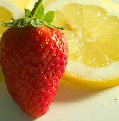 lemon and strawberry