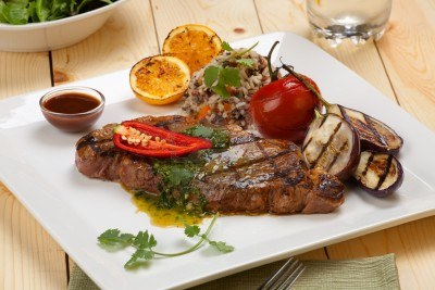 Steaks-with-herbs-sauce