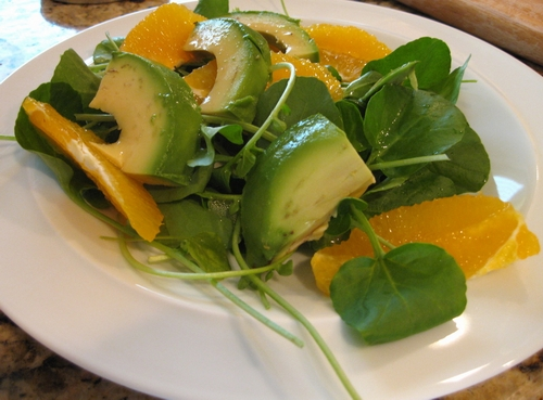 Avocado-salad-with-watercress