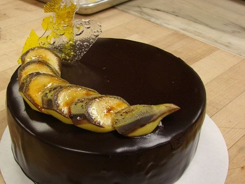 Bananas-and-chocolate-cake