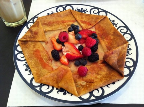 Crepe red fruit