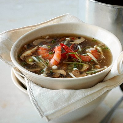 Mushroom-soup-with-shrimp