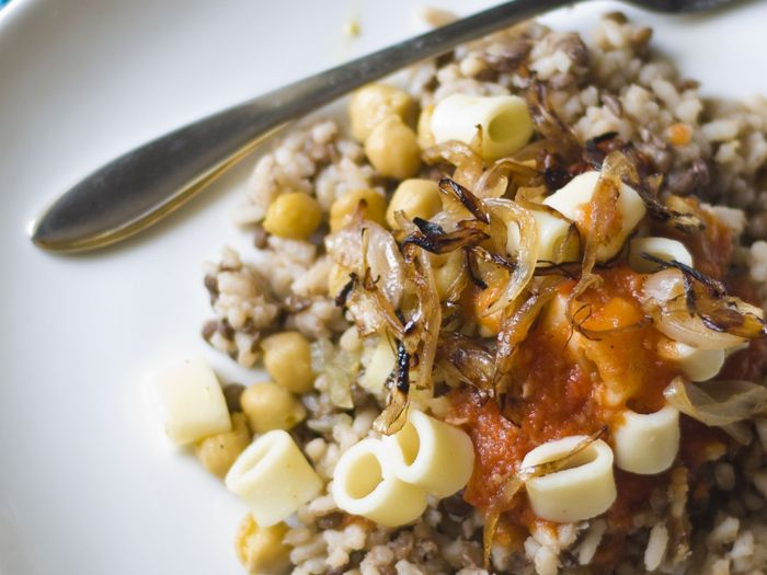 Luxury - lentils, rice and tomato sauce