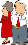 Angry Couple With Crossed Arms Clipart