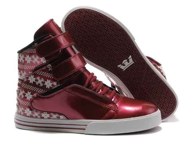 2012 Supra TK Society Womens Dark Red Patent White