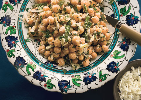 Chickpea-salad-with-Parmesan-and-fresh-herbs