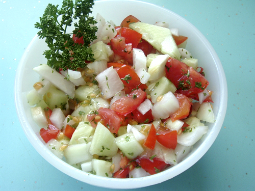 Salad-tomatoes-cucumbers-and-onions