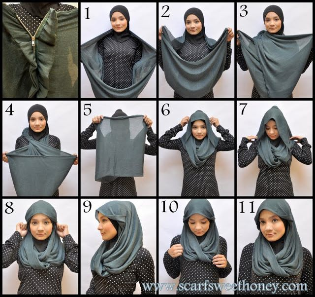 Ways to wear hijab   (21)