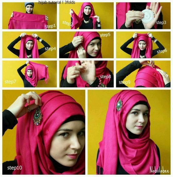 Ways to wear hijab   (22)