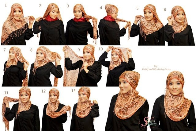 Ways to wear hijab   (3)
