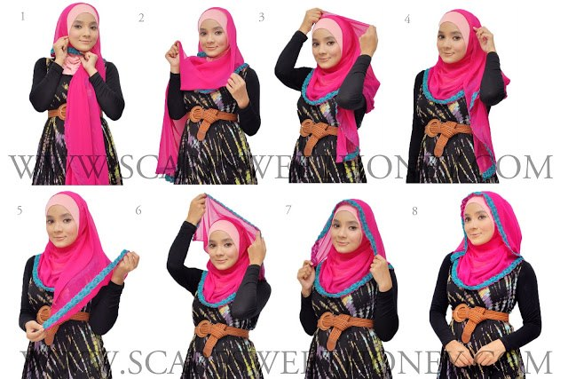 Ways to wear hijab   (5)