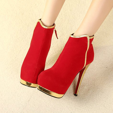 Winter Boots High-heeled (2)