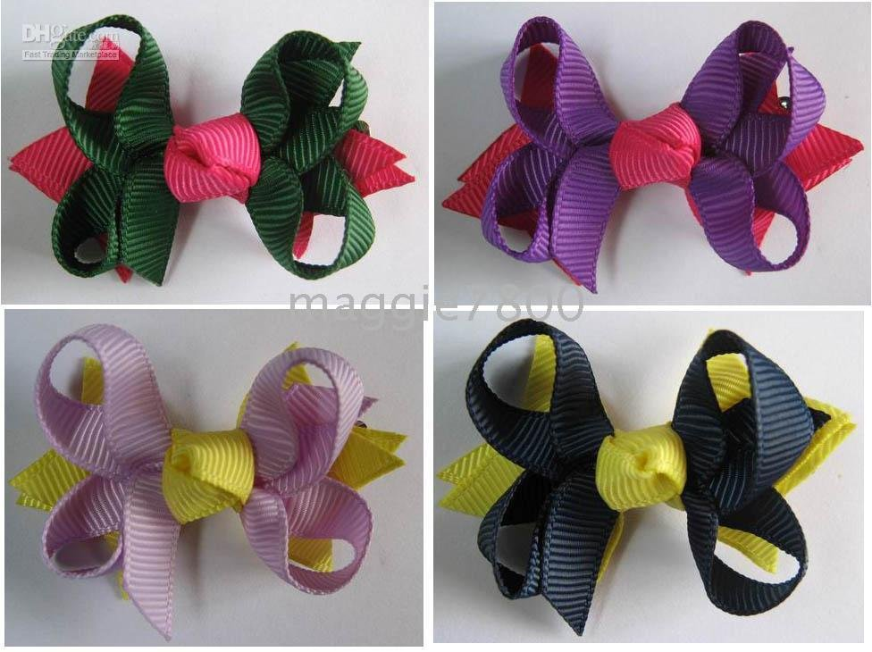 ribbon-bows-HS-6-Sweet-Girls-Hair-Accessories-Baby-hair-bows-Baby-hairs-clip-grosgrain