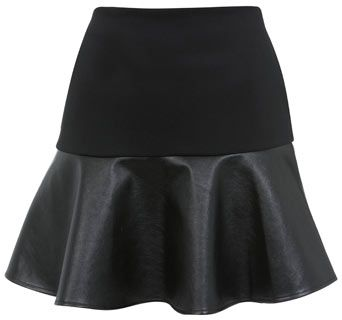 8_leather-trimmed-flared-skirt