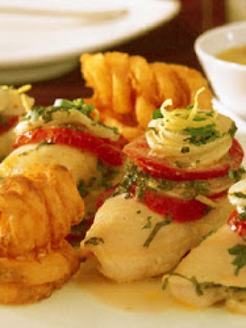 Fish rolls with vegetables