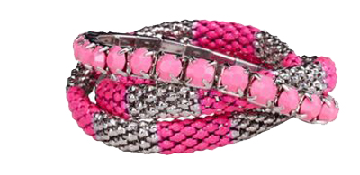 Three-Row-Neon-And-Mesh-Stretch-Bracelet