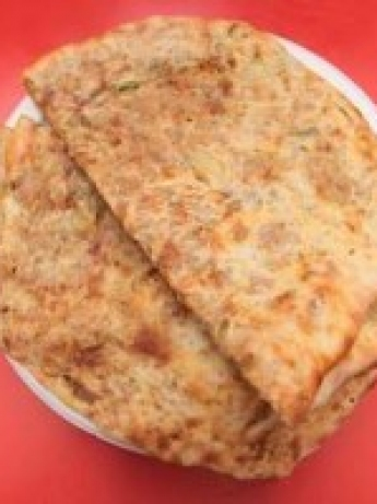 Bread stuffed with minced meat