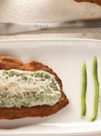 Chicken fillet with spinach sauce