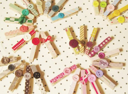 Decorative clothespins (10)