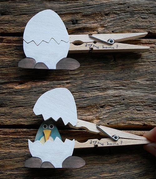 Decorative clothespins (8)