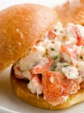 Lobster and artichoke sandwich