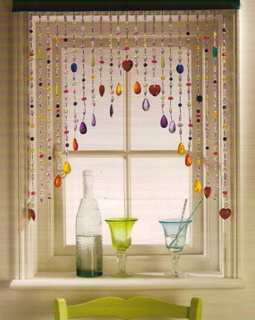 Make your own curtains colored porcelain (1)
