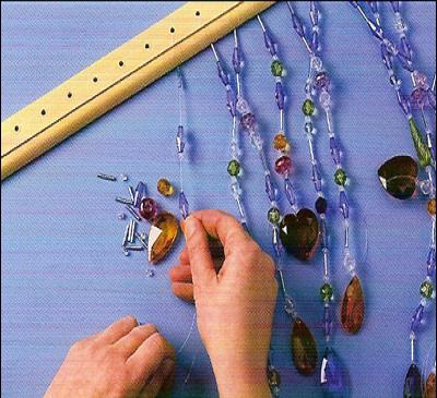 Make your own curtains colored porcelain (3)