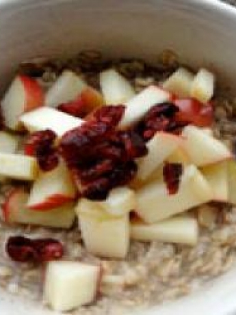 Oat milk, fruits and nuts