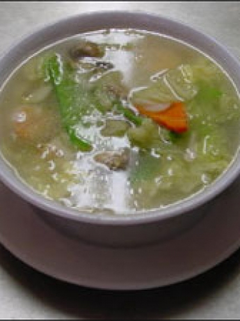 Rice soup with vegetables