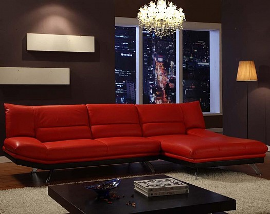 Sitting rooms decorated in red (10)