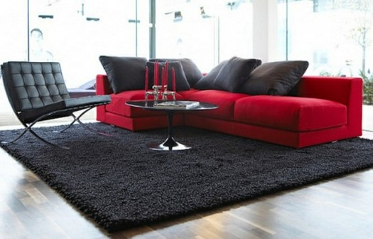 Sitting rooms decorated in red (11)