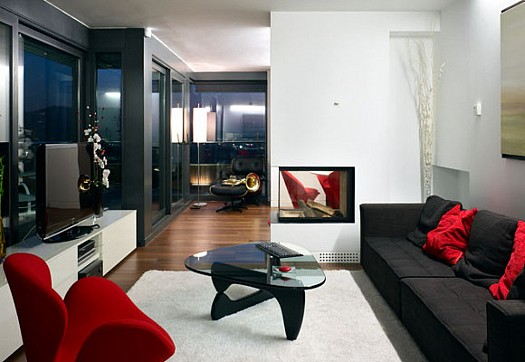Sitting rooms decorated in red (12)