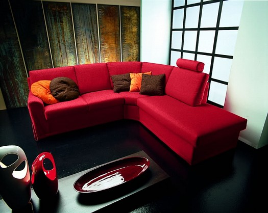 Sitting rooms decorated in red (4)