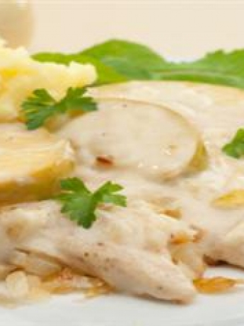 White sauce chicken breasts
