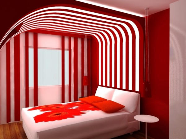 Your bedroom more romantic red (10)