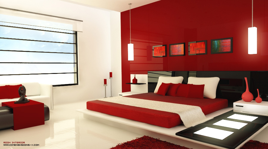 Your bedroom more romantic red (11)