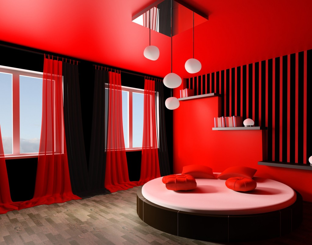 Your bedroom more romantic red (7)