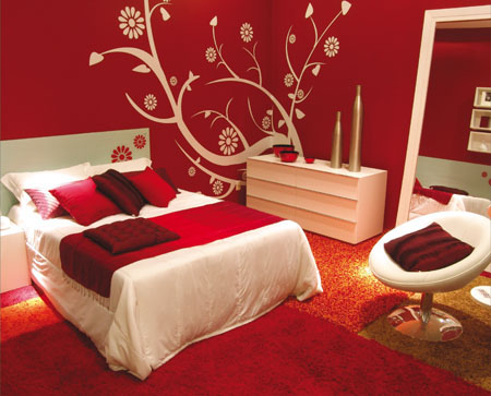Your bedroom more romantic red (8)