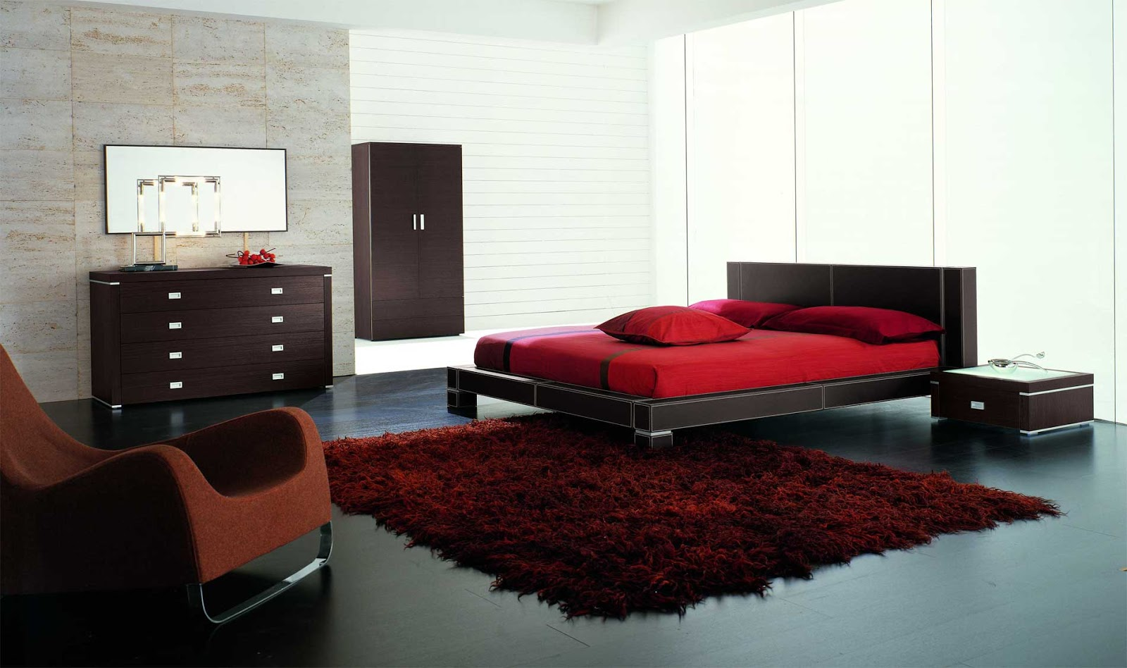 Your bedroom more romantic red (9)