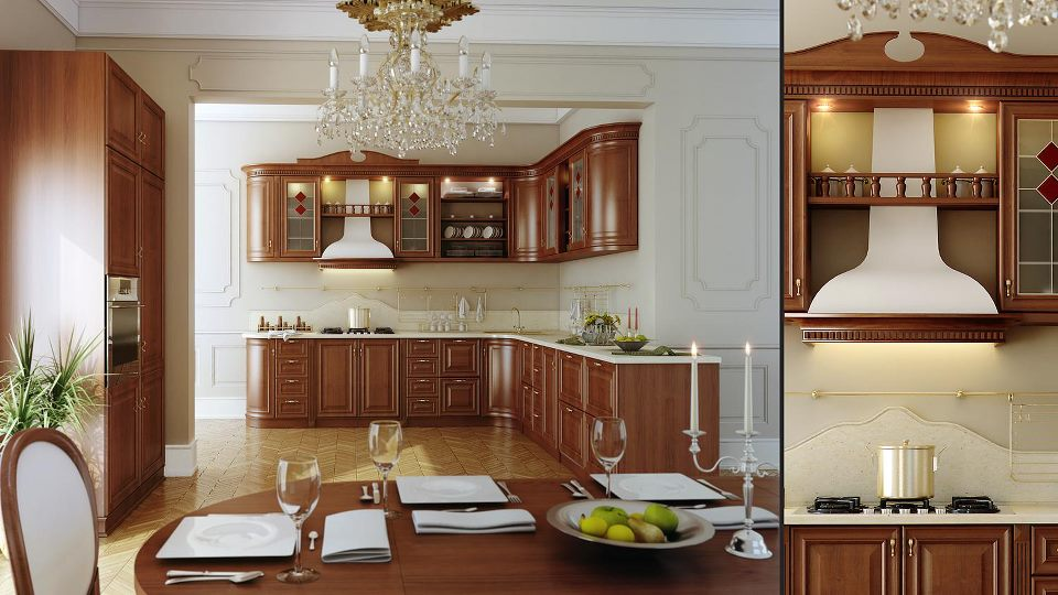 Your kitchen decorated in classic (6)