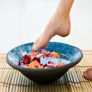 The recipe for whitening feet