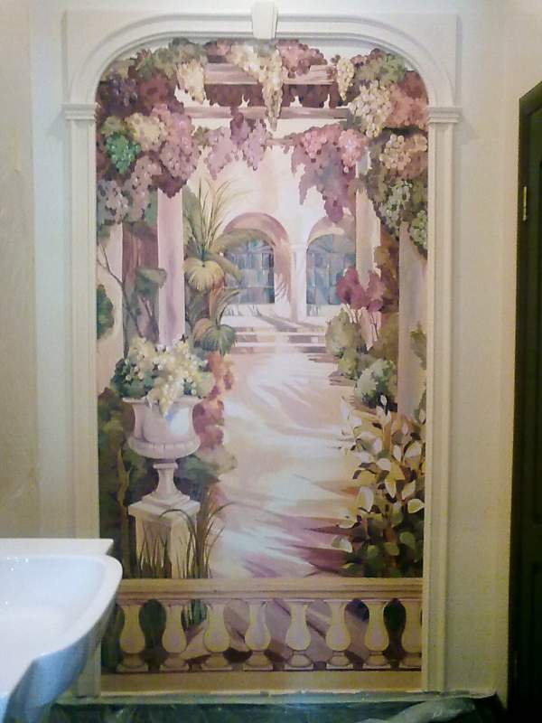 Decoration and painting on the walls14