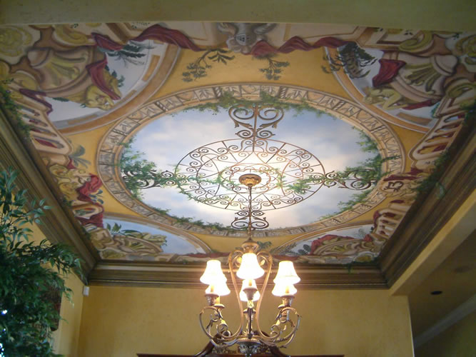 Decoration and painting on the walls3