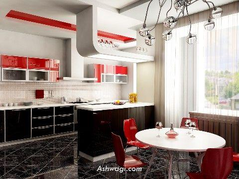 Kitchens decorated in red (1)