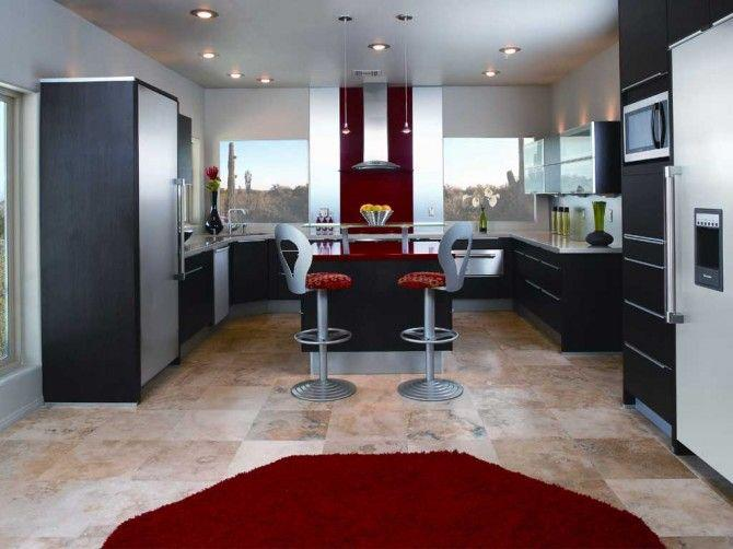 Kitchens decorated in red (11)