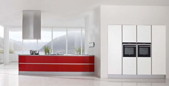 Kitchens decorated in red (14)
